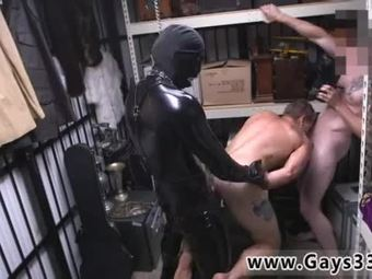 Hunk gay twink movie Dungeon master with a gimp